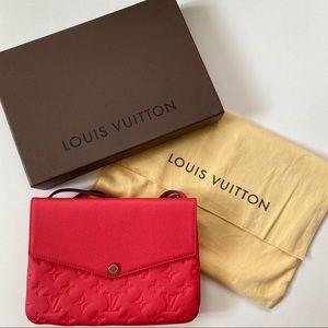 AUTH Louis Vuitton Empriente Poppy Twice Bag